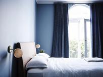 地中海蓝色住宅卧室意向 JPG