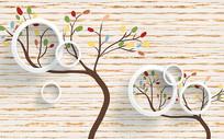 发财树背景墙