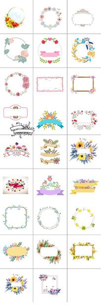 花卉标题框