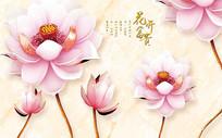 花开富贵背景墙