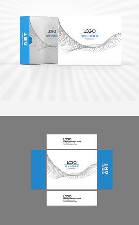 科技风格包装盒设计ai矢量