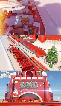 圣诞节快乐片头ae模板