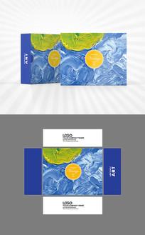 水彩风格包装盒设计AI矢量