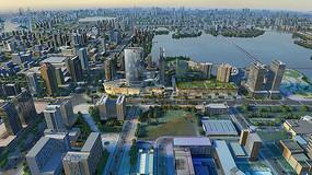 都市建筑群鸟瞰图