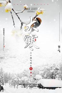 二十四节气大寒主题海报