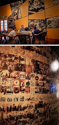 鲁迅雕塑文化照片墙