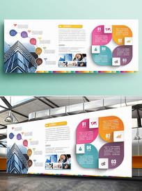 美式简约企业文化墙形象展板