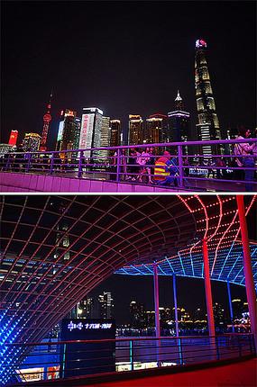 上海城市建筑景观夜景
