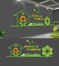 社区校园垃圾分类文化墙