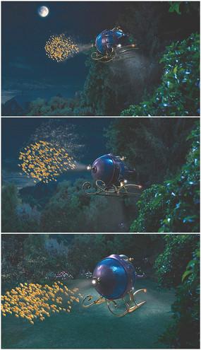 童话魔法船从天而降视频