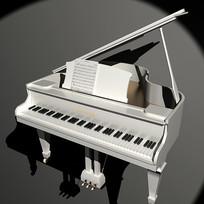 白色钢琴,木制钢琴,乐器