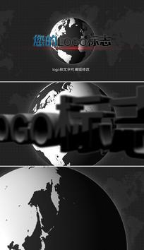 大气旋转地球3Dlogo模板
