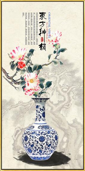 新中式现代青花瓷装饰画 PSD