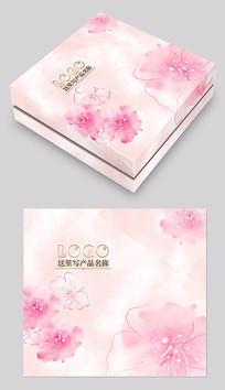 粉红色化妆品包装