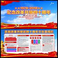 改革开放40周年党建宣传栏