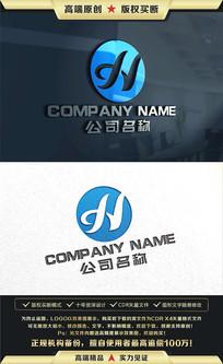 H字母服装金融科技LOGO