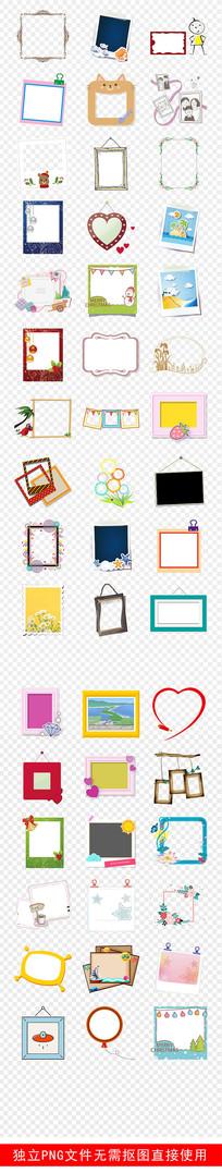 儿童相框相册照片墙边框素材