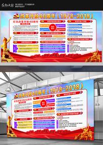 庆祝改革开放40周年展板