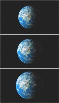 中国地理卫星图旋转视频