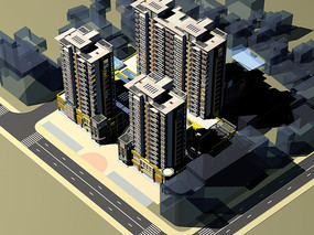 DBC建筑群鸟瞰图