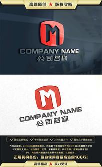 M字母金融科技商务LOGO