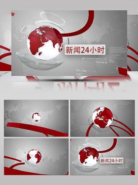 地球动画新闻栏目包装AE片头