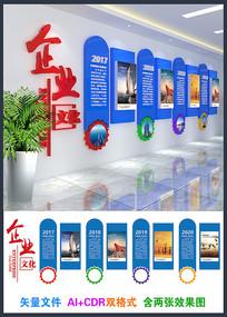精美企业公司文化墙设计