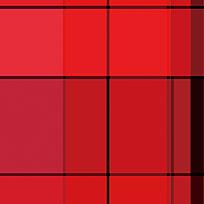 时尚红色格子拼接花纹