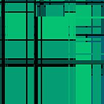 时尚绿色拼接格子图案