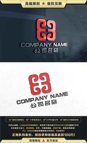 中国风餐饮金融建筑LOGO