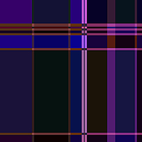 紫色底纹条格拼接印花