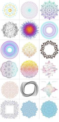 AI矢量花纹图案