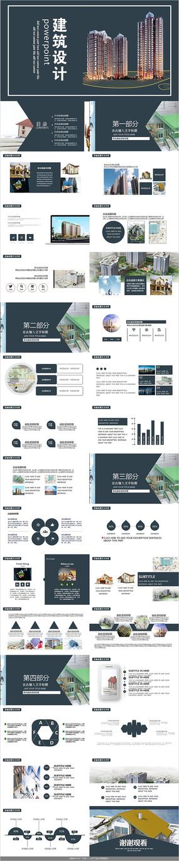 安全生产建筑设计PPT模板