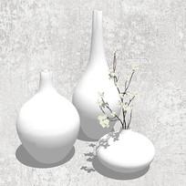 白色文艺花瓶