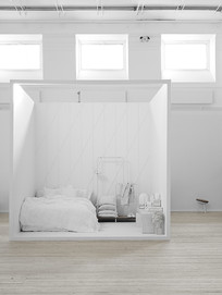 创意白色空间卧室意向