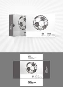 分子足球包装盒设计AI矢量