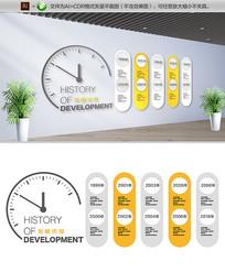 简约企业发展历程文化墙