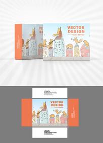 卡通形象包装盒设计AI矢量