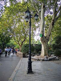 欧式铁艺路灯灯柱