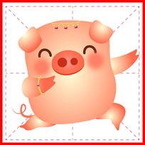 2019AI矢量猪宝宝插画