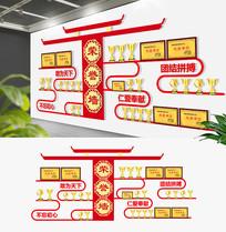 3D中式企业荣誉墙展板