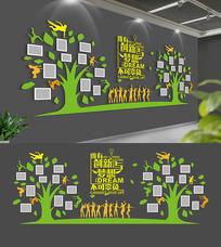 企业校园照片树文化墙