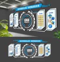 圆形科技大气公司形象墙