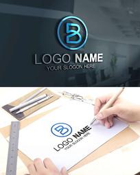 B字母教育IT科技LOGO