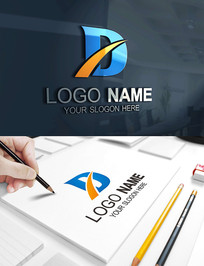 D字母教育服装科技LOGO