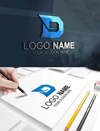 D字母机械建筑科技LOGO