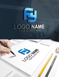 FY字母建筑科技商务LOGO