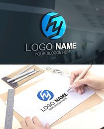HY字母金融科技建筑LOGO