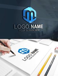 M字母科技建筑教育LOGO
