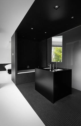 创意黑色元素洗手台意向